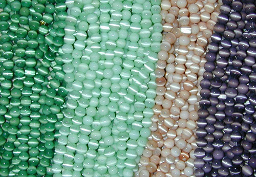 Cats Eye Beads 6mm Strand