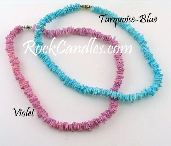 "18"" Colored Puka Chip Necklace - Assorted Color"