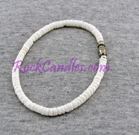 "8"" White Clam Shell Bracelet"