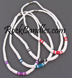 Graduated Shell w/ Colored Combination Necklace