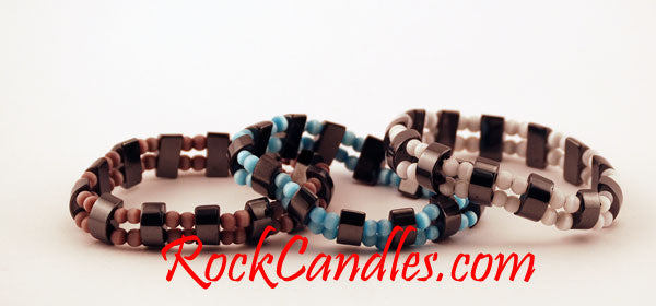 Hematite and Cats Eye Bracelets