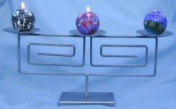 3 Ball Candle Holder - Iron