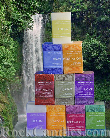 Nature's Essence Scented Square Candles - Closeout