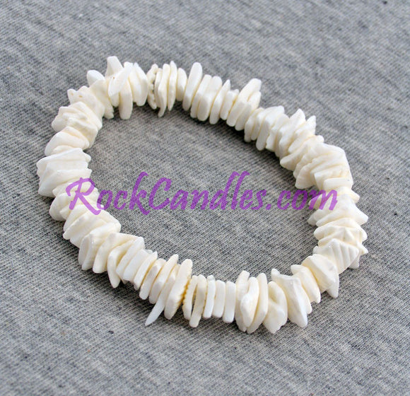 White Shell Chip Bracelet