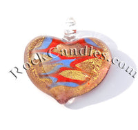 Heart  Foil Pendant Copper 1
