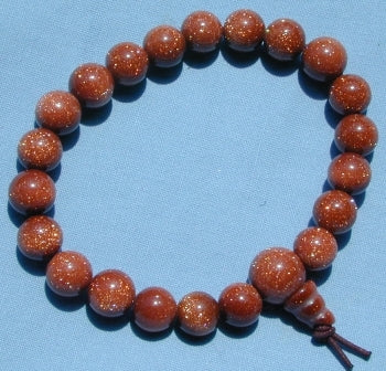 Gold Sand Stone Power Bead Bracelet