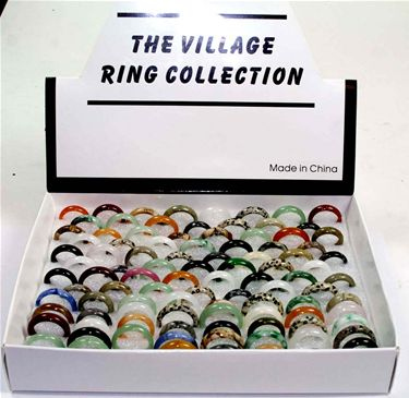 Boxed Gemstone Rings 100pk