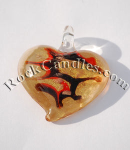 Heart  Foil Pendant Copper 3