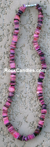 Colored Shell Chip Necklace 18""