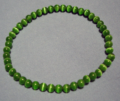 Green Cats Eye Bracelet 4mm