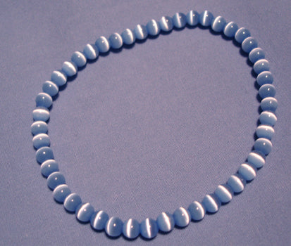 Blue Cats Eye Bracelet 4mm