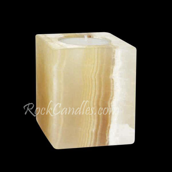 Onyx  Square Tealight Candle Holder