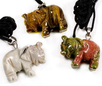 Gemstone Fetish Animal Necklace - Assorted Stone