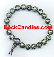 Moss Jasper Power Bead Bracelet