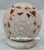 Carved Soapstone Candle Holder