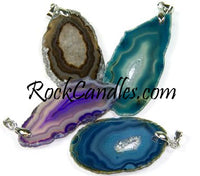Agate Slice Pendant with Bail