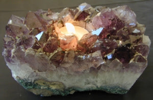Premium Amethyst Candle Holder