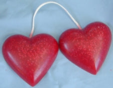 Large Pair Hanging Heart Candles