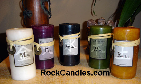 Feng Shui Pillar Candle Set - Closeout