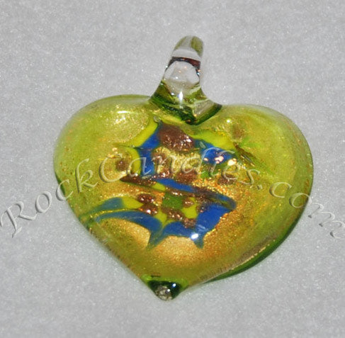 Green Foil Heart Pendant