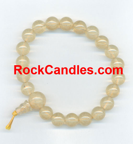 Rutilated Quartz Power Bead