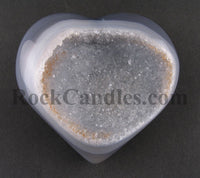 Agate Heart with Crystal Druze
