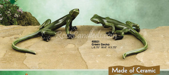 Green Porcelain Gecko Set of 2 (A & B)