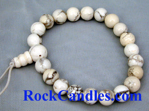 White Howlite Power Bead Bracelet