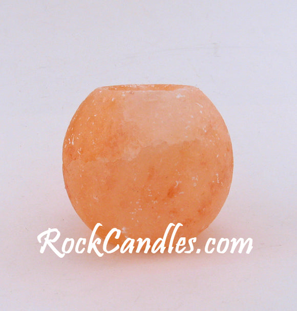 Round Salt Rock Candle Holder