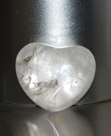 Polished Rock Crystal Heart 45mm