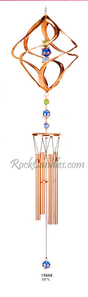 Swirl Copper & Gem Wind Chime