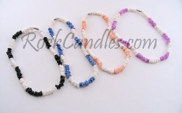 Color Chip Puka Necklace