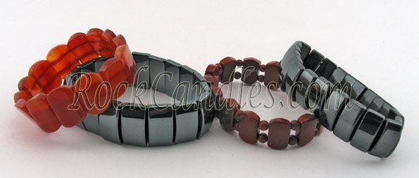 Designer Power Bead  Flat Bracelet