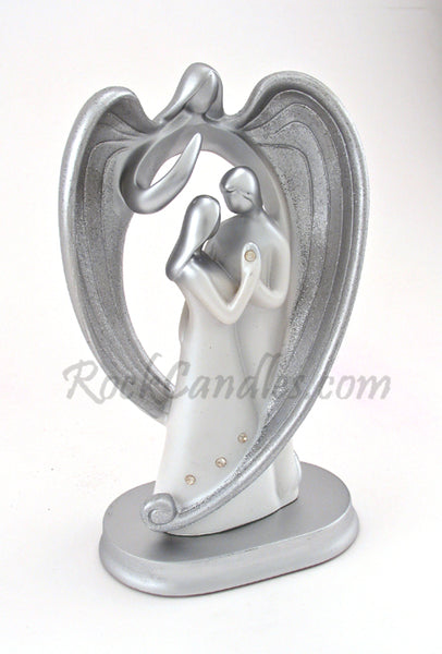 Lovers Watched by Guardian Angel Center Piece