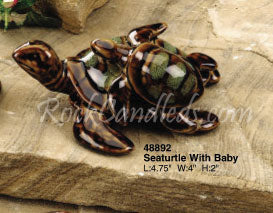 Sea Turtle and Baby Porcelain
