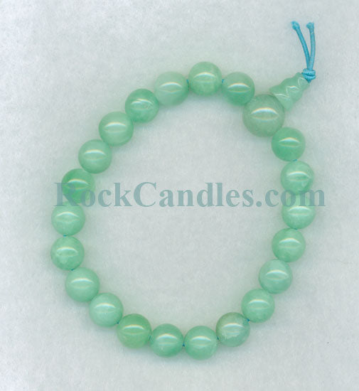 Aqua Jade Power Bead Bracelet