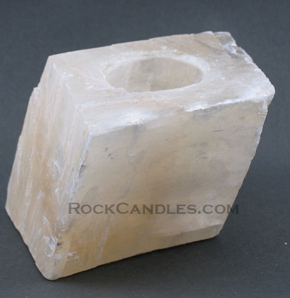 Calcite Rhomboid Candle Holder