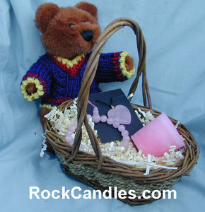 Rose Quartz & Bear Gift Basket
