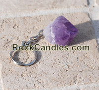 Amethyst Point Key Chain