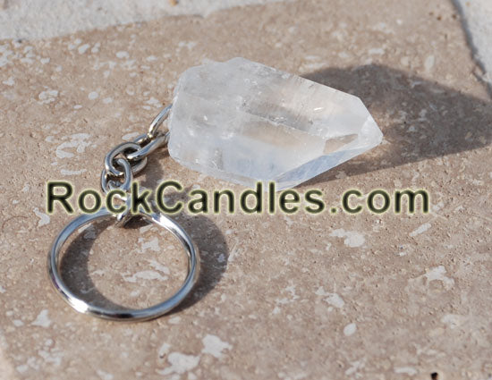 Rock Crystal Key Chain
