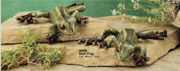Shelf Frog Ceramic By Golden Pond