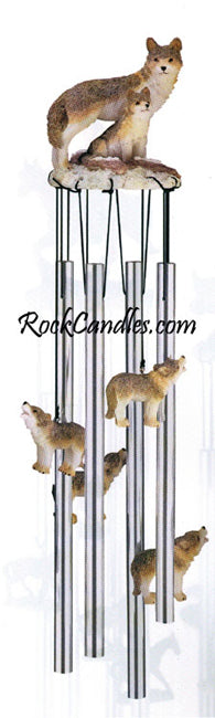 Wolf & Baby Wolves Wind Chime