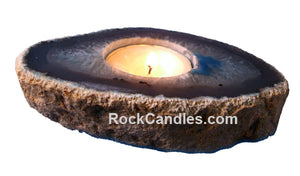Agate Slab Candle Holder