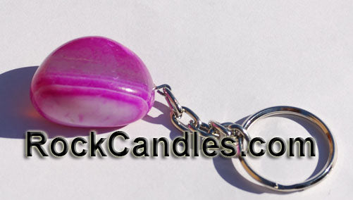 Tumbled Stone Polished Key Chain