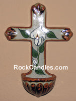 Glazed Pottery Cross with Bowl