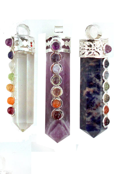 Chakra Point Crystal Pendant