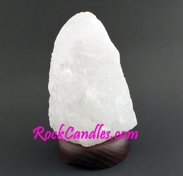 Large Rock Crytal Quartz Lamp With Base