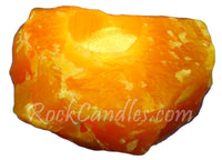 Rough Orange Calcite Candle Holder