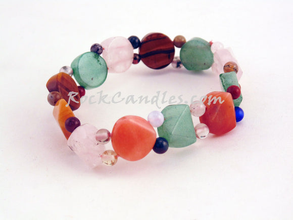 Semi-Precious Multi-Color Stone Bracelet