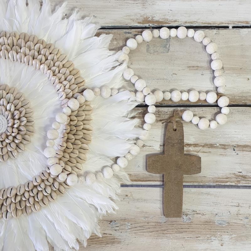 Rustic Natural Cross Necklace